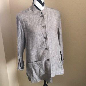 Chico's DESIGN linen jacket
